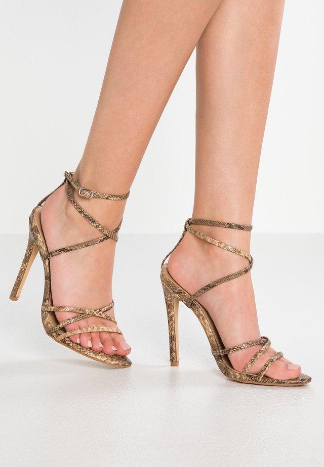 KAIA - Sandalen met hoge hak - nude