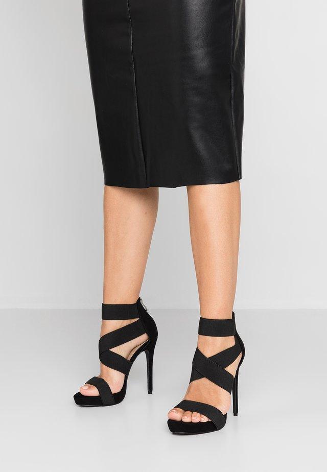 SKYLAR - Sandalen met hoge hak - black