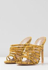 EGO - SAFFIYA - Heeled mules - yellow - 4