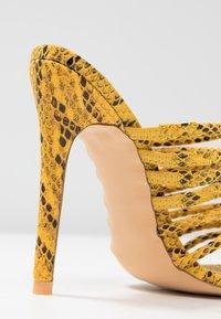 EGO - SAFFIYA - Heeled mules - yellow - 2