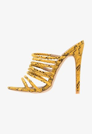 SAFFIYA - Pantofle na podpatku - yellow