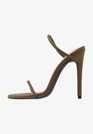 HELIX - Pantofle na podpatku - khaki