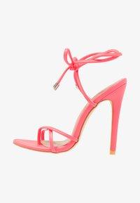 EGO - ROCHELLE - Sandaler med høye hæler - neon pink - 1