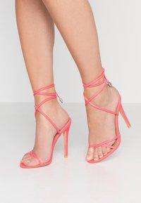 EGO - ROCHELLE - Sandaler med høye hæler - neon pink - 0
