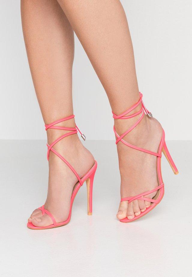 ROCHELLE - Sandalen met hoge hak - neon pink