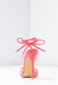 EGO - ROCHELLE - Sandaler med høye hæler - neon pink - 5