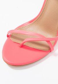 EGO - ROCHELLE - Sandaler med høye hæler - neon pink - 2