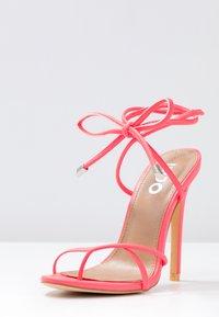 EGO - ROCHELLE - Sandaler med høye hæler - neon pink - 4