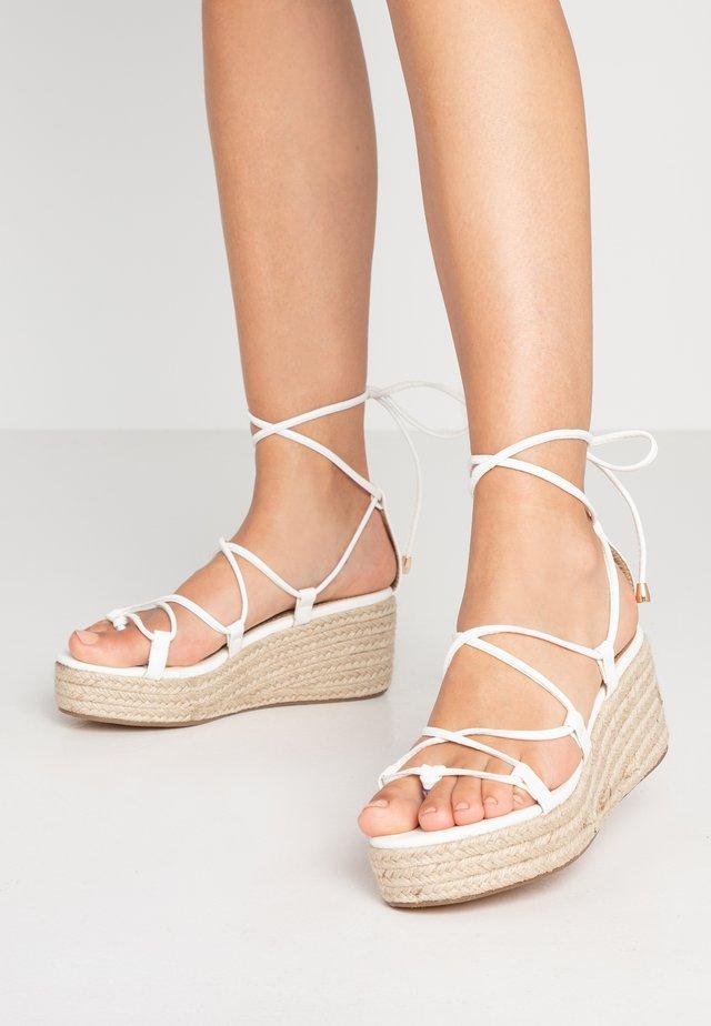 SOPHINA - T-bar sandals - white