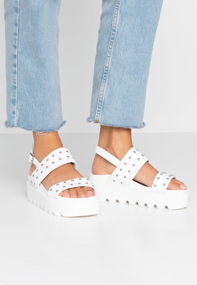KULA - Sandales à plateforme - white