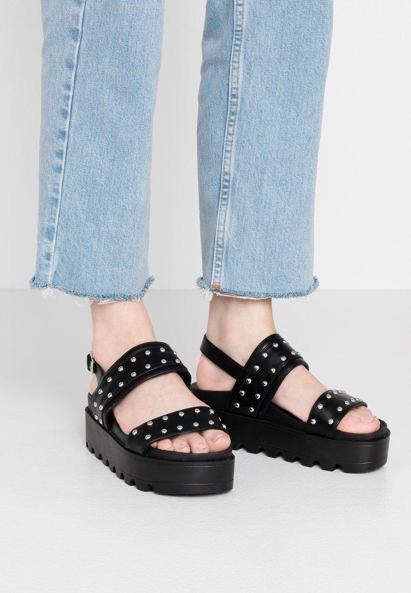 EGO - KULA - Sandály na platformě - black