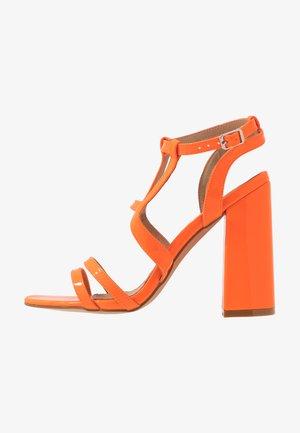HALO - High heeled sandals - orange
