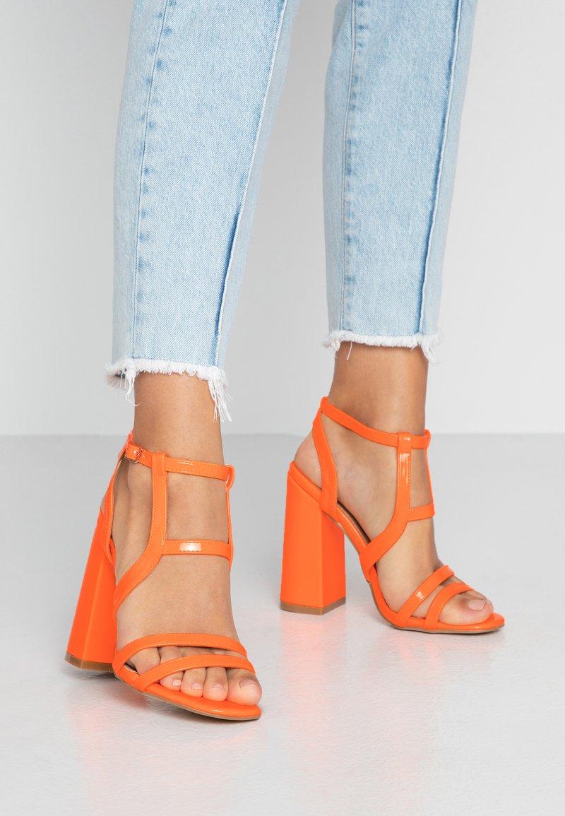 EGO - HALO - Sandály na vysokém podpatku - orange