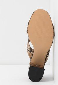 EGO - HOLLAND - Pantofle na podpatku - nude - 6