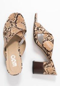 EGO - HOLLAND - Pantofle na podpatku - nude - 3