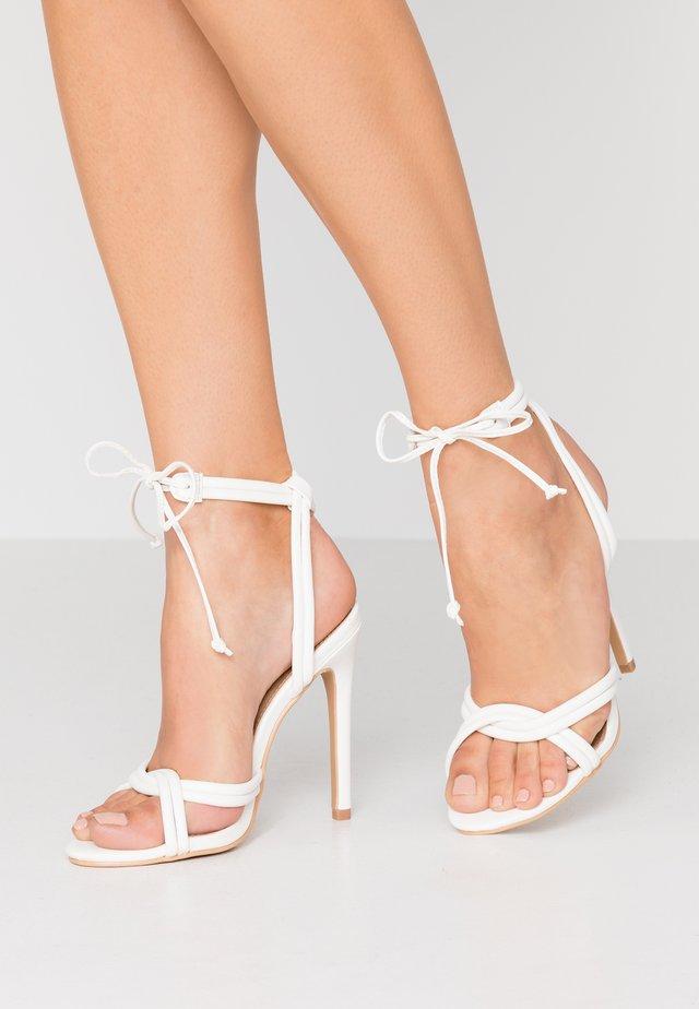 HOPE - High Heel Sandalette - white