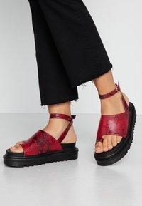 EGO - SANTO - Platform sandals - burgandy - 0