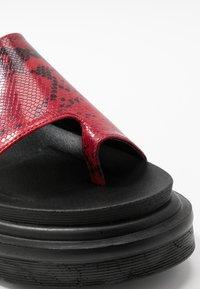 EGO - SANTO - Platform sandals - burgandy - 2
