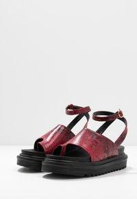EGO - SANTO - Platform sandals - burgandy - 4