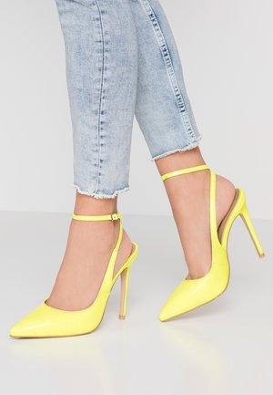 RAINA - Escarpins à talons hauts - neon yellow