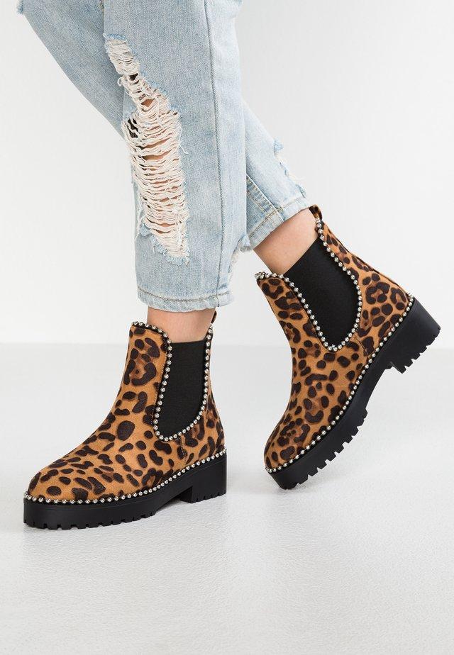TILDA - Platform ankle boots - tan