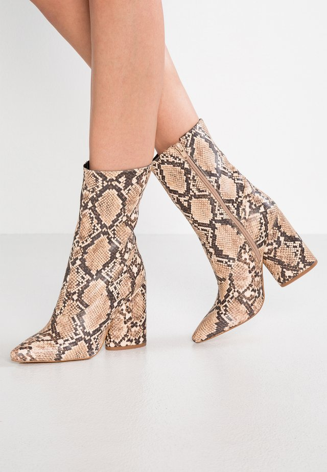 AMEERA - High heeled ankle boots - nude