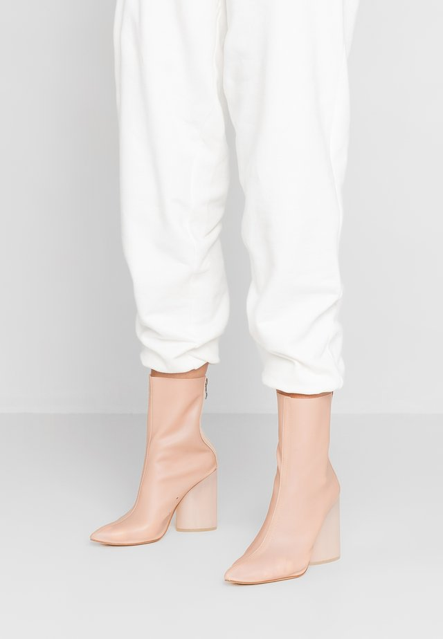 MIMI - High heeled ankle boots - nude