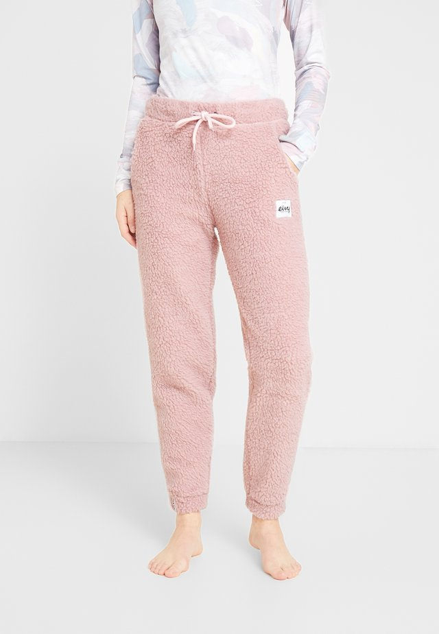 BIG BEAR SHERPA PANTS - Spodnie treningowe - faded pink