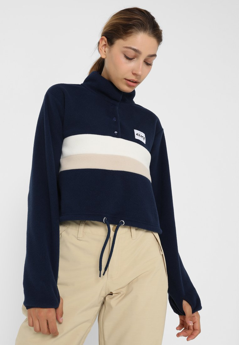 Eivy - MEG CROPPED - Fleece jumper - navy