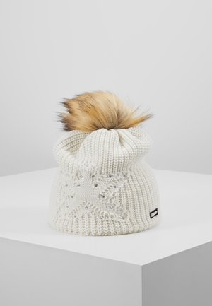 CHANTAL LUX CRYSTAL  - Gorro - white/hellbraun