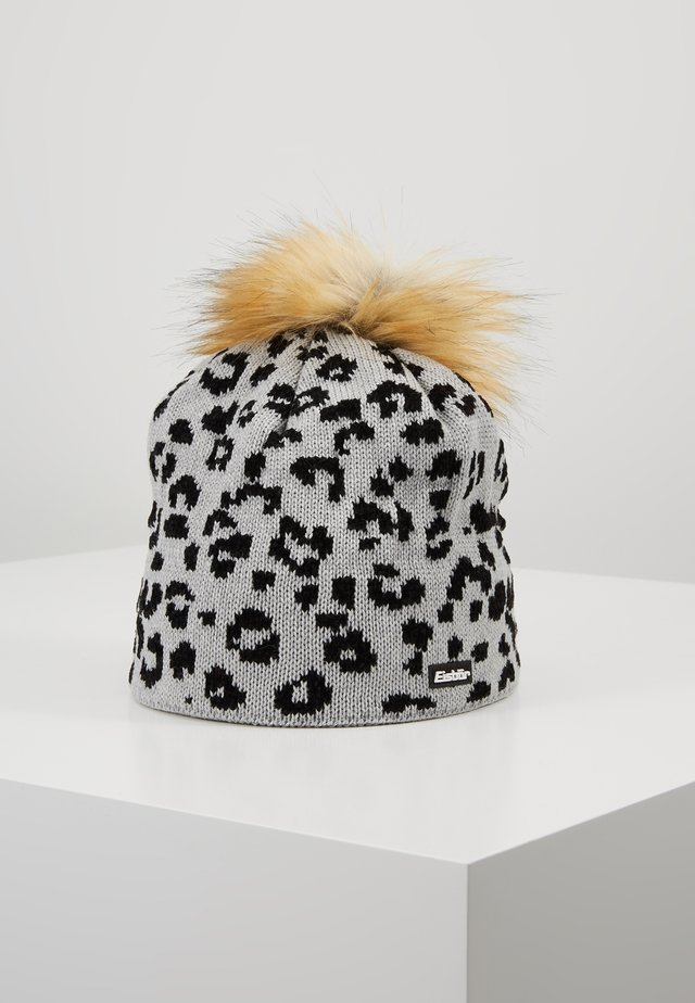LEORA  - Bonnet - hellgrau/schwarz/hellbraun