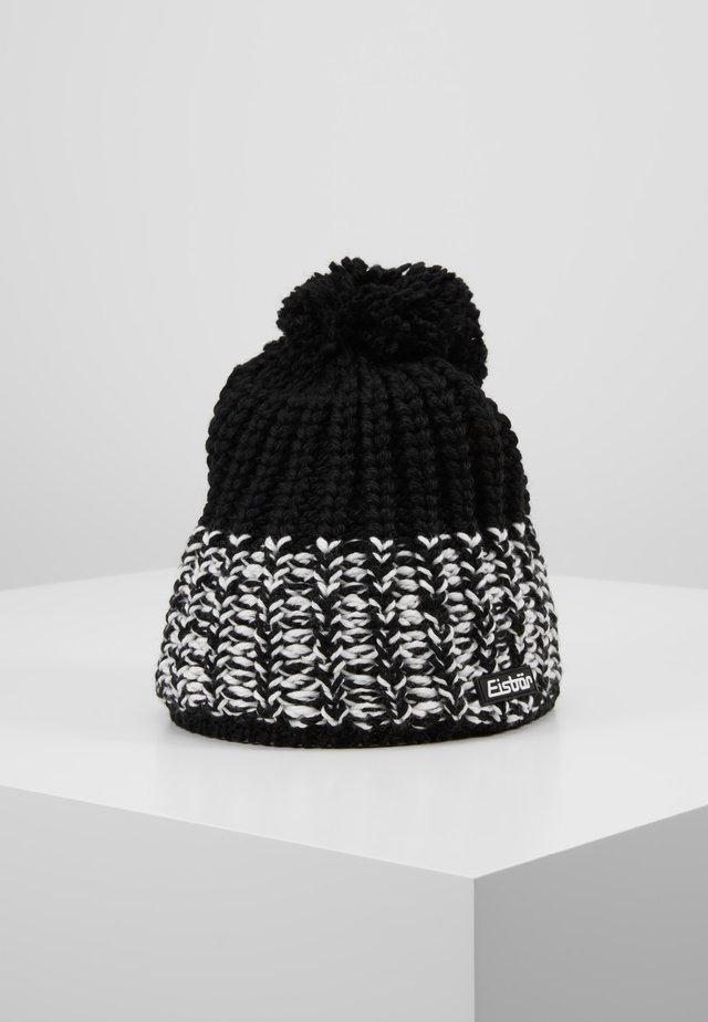 FOCUS POMPON - Bonnet - schwarz/weiss