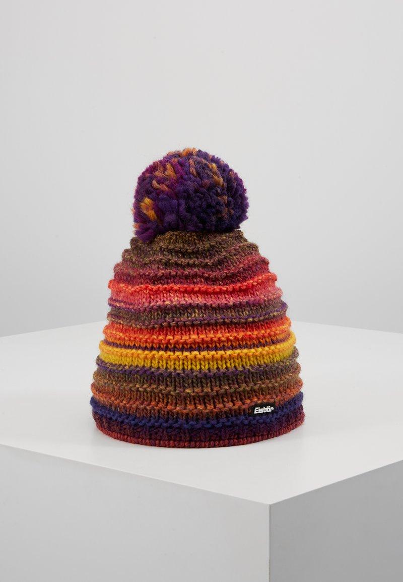 Eisbär - MIKATA - Mütze - lila/gelb