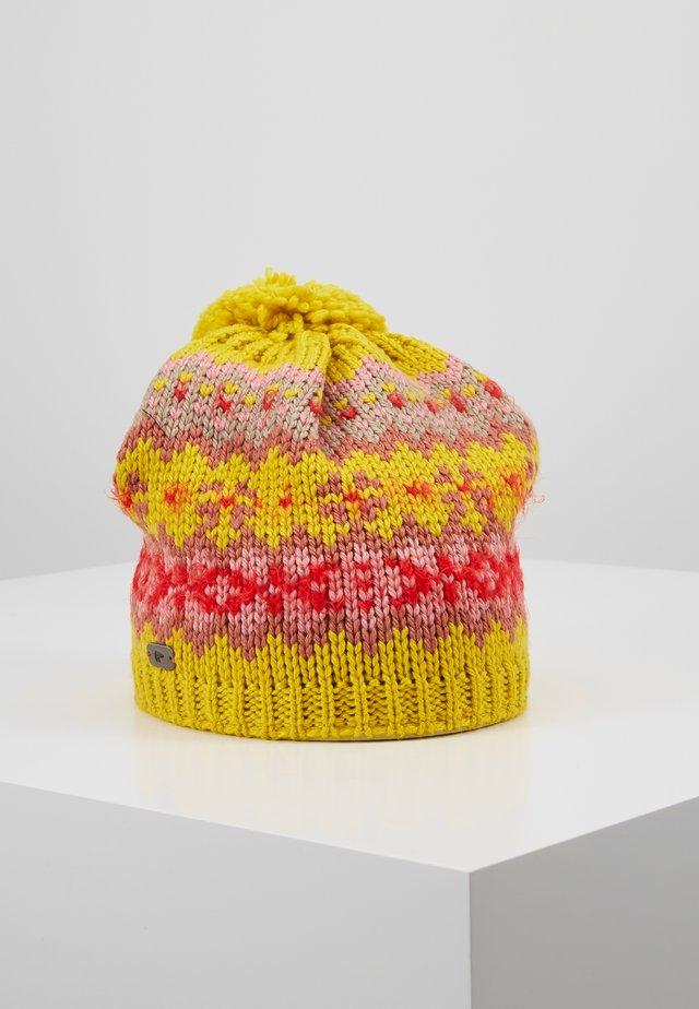 WENTJE POMPON - Bonnet - senf/indiared/rosa/corallrot