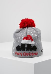 Eisbär - MERRY CHRISTMAS POMPON - Beanie - grey melange - 0