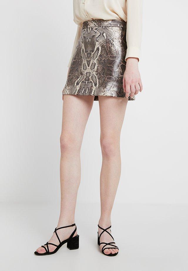 ENINTENSE SKIRT - Mini skirt - grey/black
