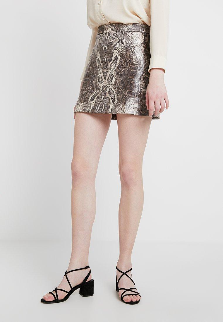 Envii - ENINTENSE SKIRT - Mini skirt - grey/black