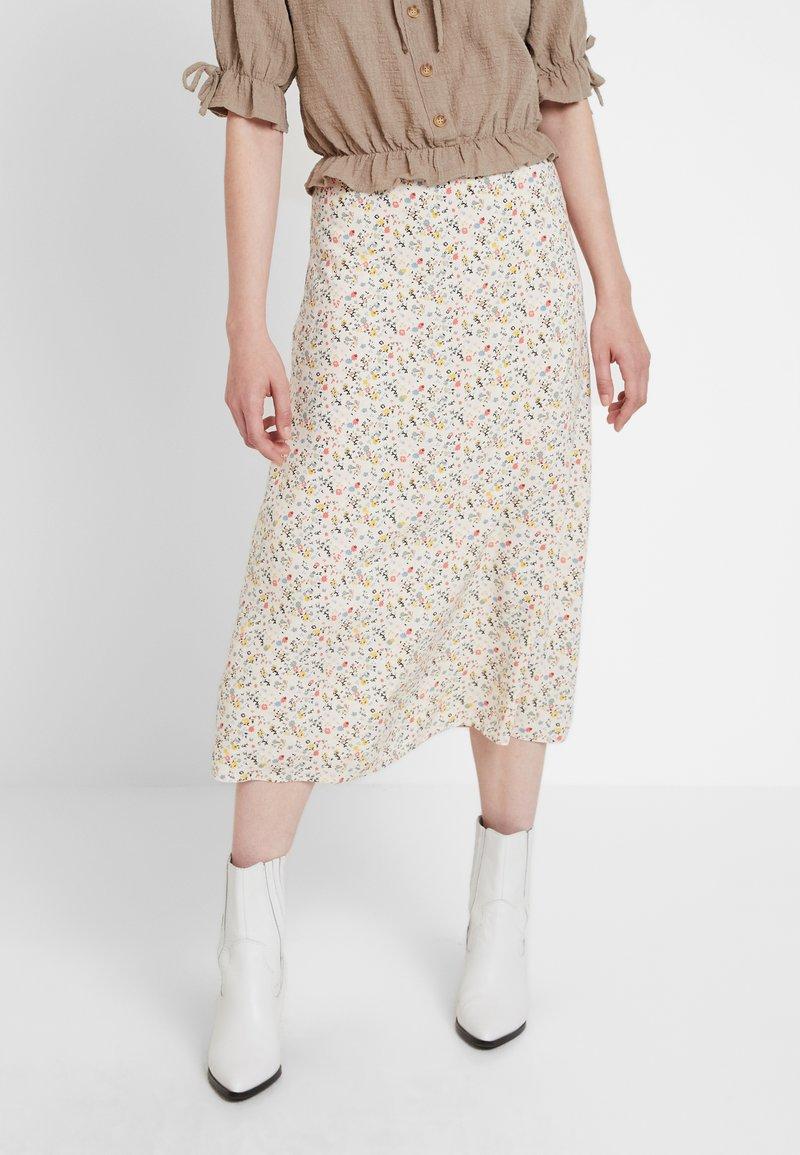 Envii - ENCAR SKIRT - Maxi skirt - beige/multicolor