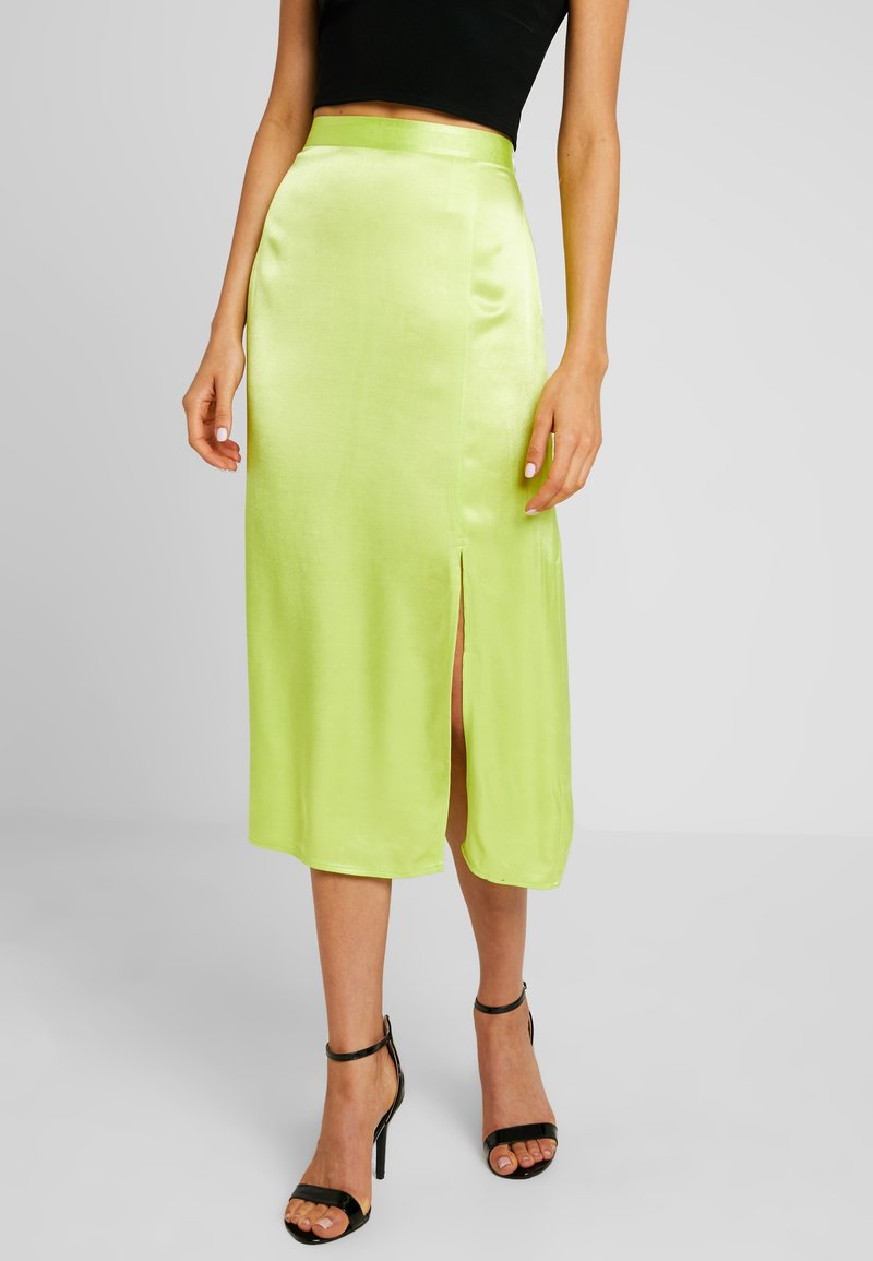 Envii - ENSIMI SKIRT - Gonna lunga - neon lime