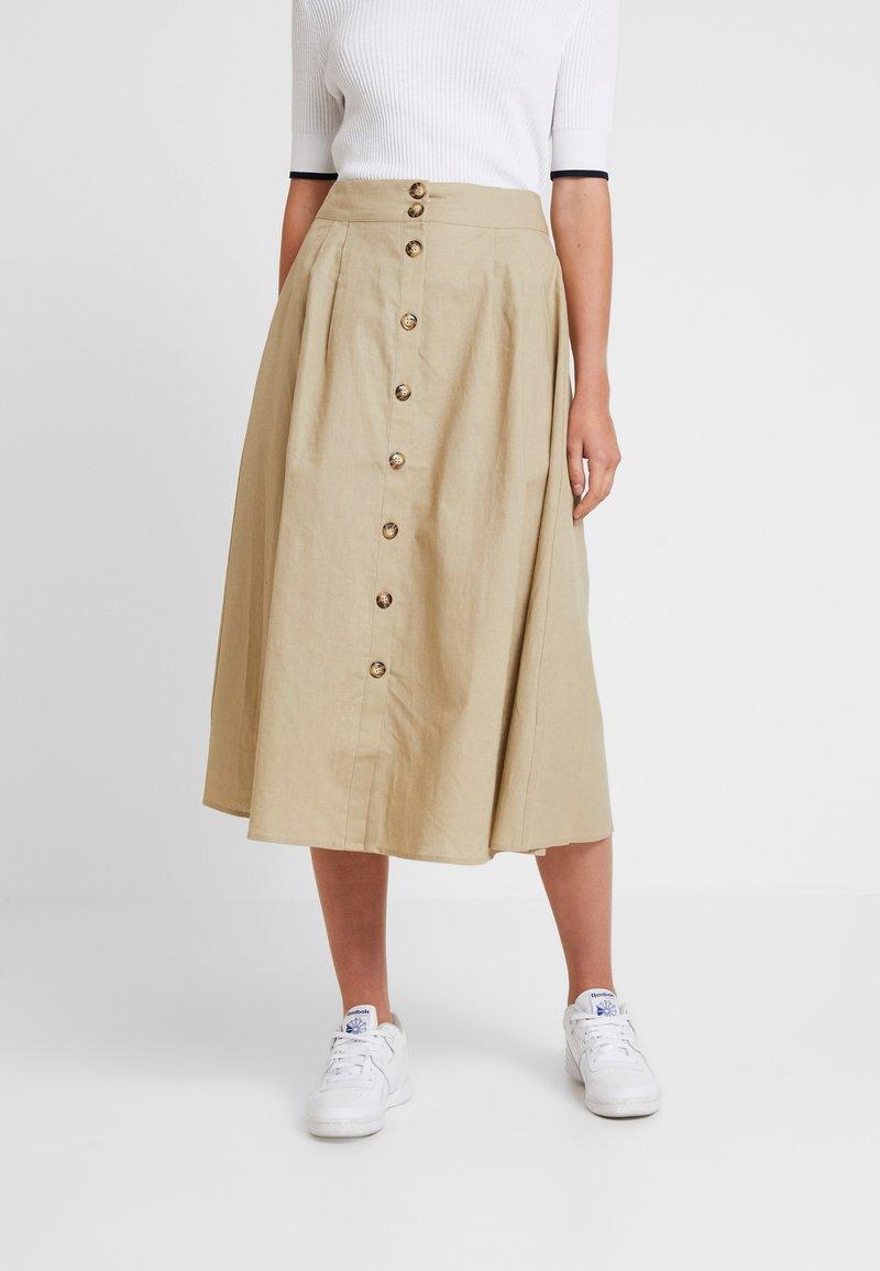 Envii - ENFULHAM SKIRT - Maxi skirt - petrified oak