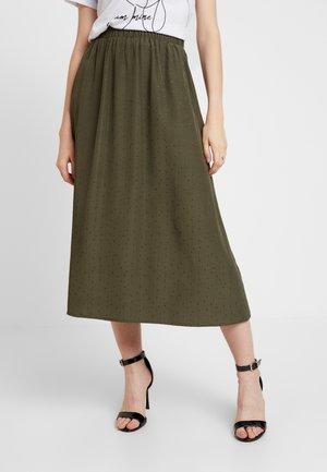 ENJUSTICE LONG SKIRT - A-snit nederdel/ A-formede nederdele - olive night