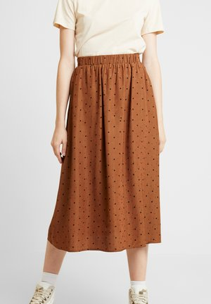 ENJUSTICE LONG SKIRT - Jupe trapèze - toffee