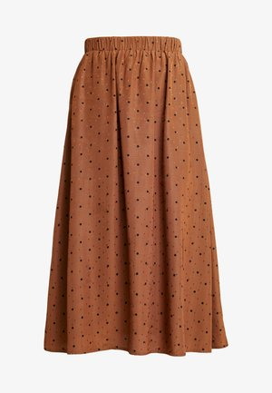 ENJUSTICE LONG SKIRT - A-line skjørt - toffee