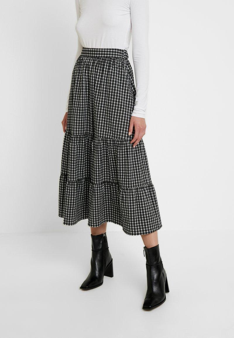 Envii - DUBAI SKIRT - A-line skirt - black/white