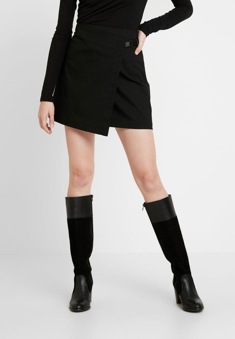 Envii - ENFROSTINE SKIRT - Spódnica z zakładką - black