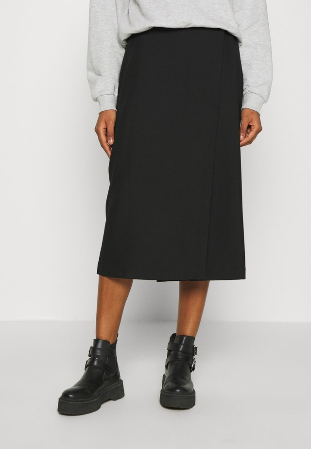 ENSEVEN SKIRT - Zavinovací sukně - black
