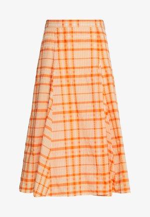 SKIRT - Áčková sukně - orange
