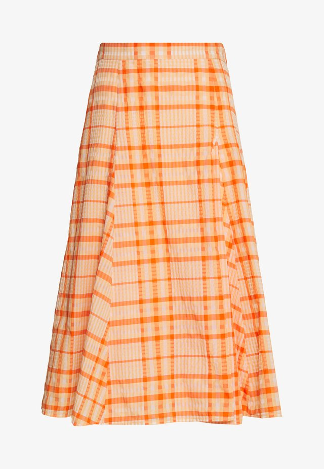 SKIRT - A-line skjørt - orange