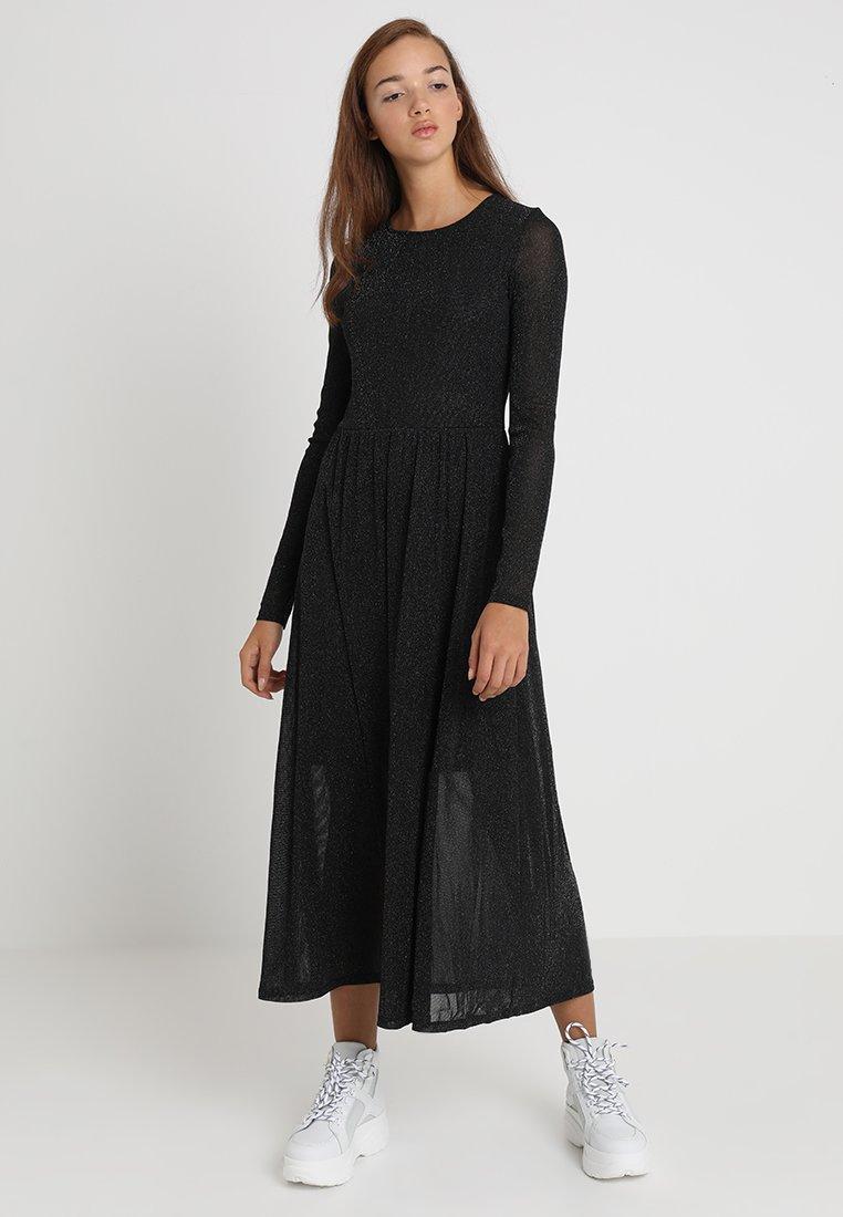 Envii - ENCROSS DRESS - Długa sukienka - silver glitter