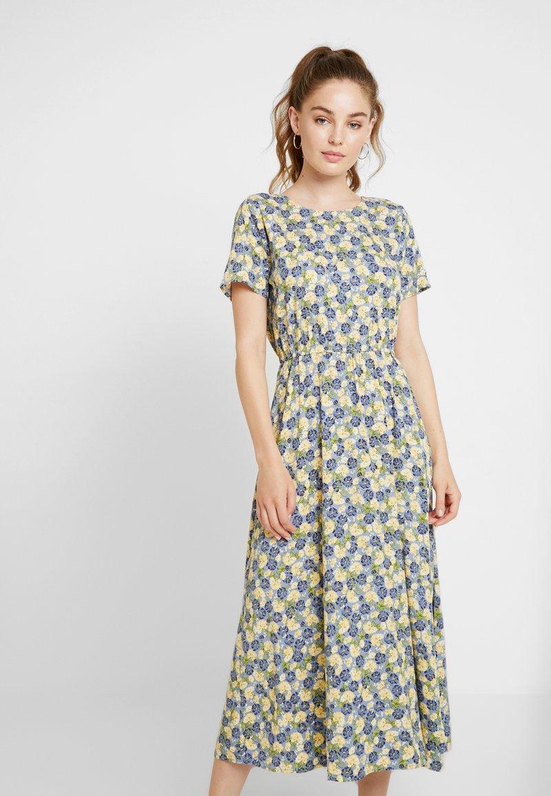 Envii - ENCHARITON DRESS - Freizeitkleid - blue/yellow
